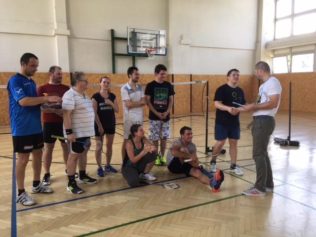 Letný turnaj zamestnancov a doktorandov FEI a FIIT v Bedmintone 2019