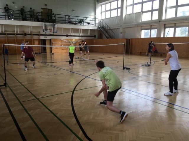 Priateľský zápas študenti vs. zamestnaci - BEDMINTON